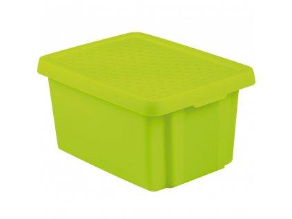 Box s víkem Essentiale Green 26 l CURVER