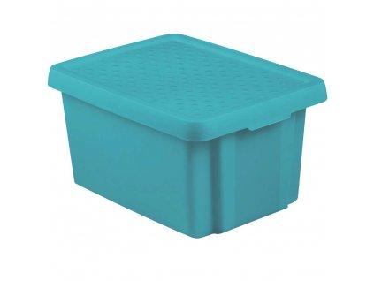Box s víkem Essentiale Blue 26 l CURVER