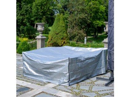 Ochranná plachta na zahradní nábytek Gray 240 x 200 x 88 cm PATIO