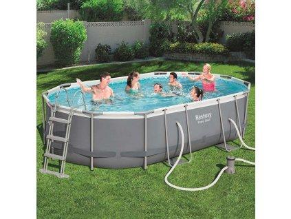Nadzemní bazén s příslušenstvím Power Steel 488 x 305 x 107 cm 10949 l BESTWAY