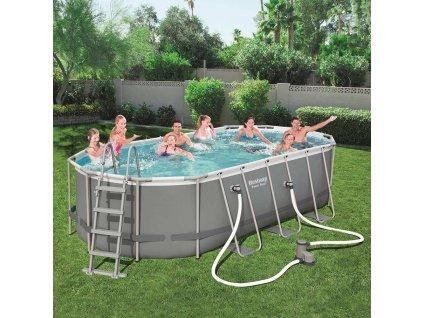 Nadzemní bazén s příslušenstvím Power Steel 549 x 274 x 122 cm 13430 l BESTWAY