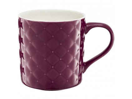 Porcelánový hrnek Glamour Quilted Dark Pink 420 ml AMBITION