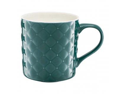 Porcelánový hrnek Glamour Quilted Mint Green 420 ml AMBITION