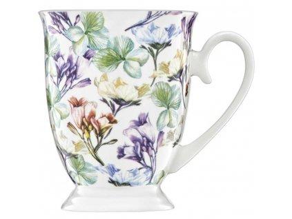 Porcelánový hrnek na stopce Garden Mint Flowers 300 ml AMBITION