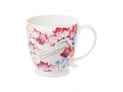 Porcelánový hrnek na stopce Garden Pink Flowers 480 ml AMBITION