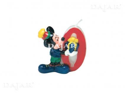 Narozeninová svíčka Mickey Mouse Club 0 years DISNEY