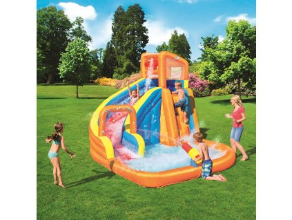 Nafukovací vodní klouzačka s bazénem 365 x 320 x 270 cm BESTWAY
