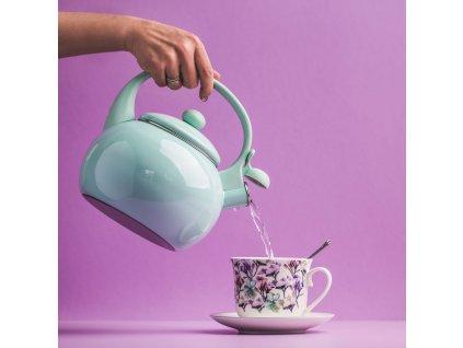 Smaltovaný čajník Garden Mint 2,2 l AMBITION