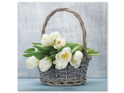 Sada 20 ubrousků Tulips 33 x 33 cm