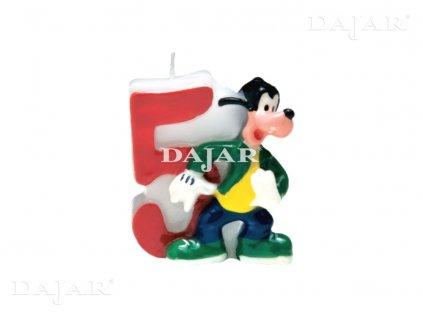 Narozeninová svíčka Mickey Mouse Club 5 years DISNEY