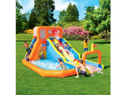 Nafukovací vodní klouzačka s bazénem 505 x 340 x 265 cm BESTWAY