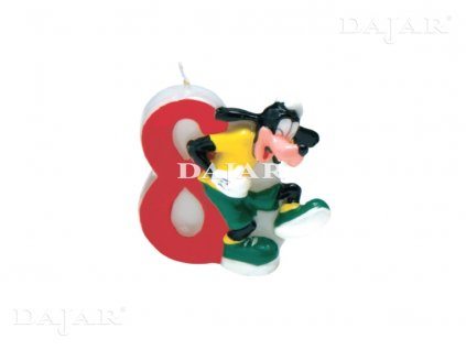 Narozeninová svíčka Mickey Mouse Club 8 years DISNEY