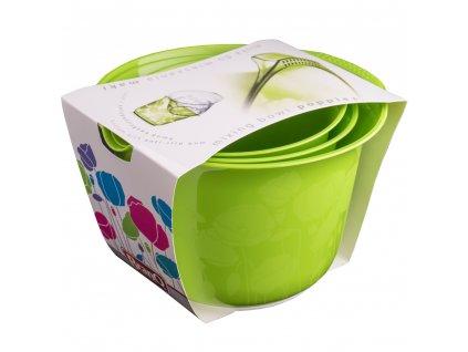 Sada 3 kuchyňských misek Maki Green BRANQ