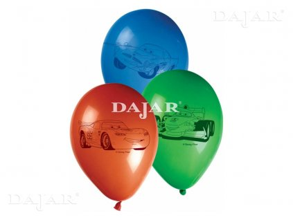 Sada 8 balónků s potiskem Cars II DISNEY
