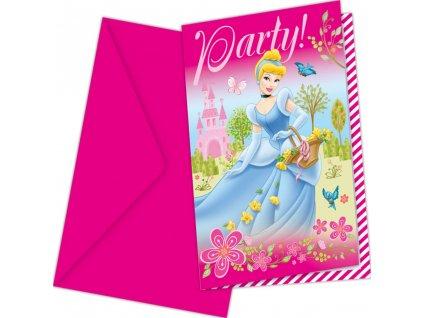 Sada 6 pozvánek s obálkou Disney ´s Princess Summer Palace DISNEY
