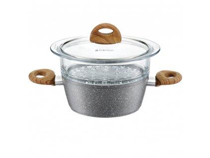 Hliníkový hrnec pro vaření v páře Mastic 20 cm AMBITION