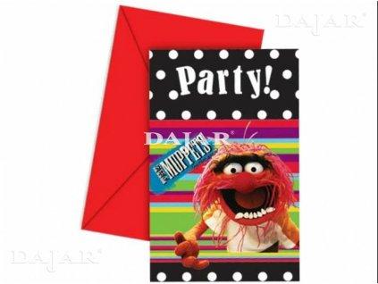 Sada 6 obálek s pozvánkou The Muppet Show Mix vzorů DISNEY