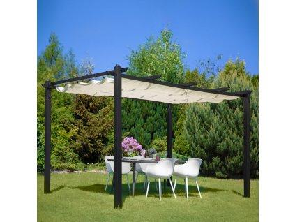 Zahradní stůl s keramickou deskou Hugo Brown 180 x 90 x 72 cm PATIO