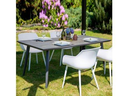 Zahradní stůl s keramickou deskou Hugo Gray 180 x 90 x 72 cm PATIO