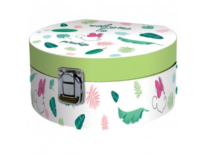 Velká krabička se zrcadlem Minnie Tropic 17 x 15,5 x 8 cm DISNEY / AMBITION