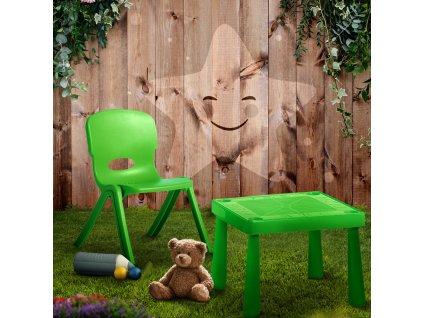 Dětský plastový stůl Lime 51,5 x 51,5 x 40 cm PATIO