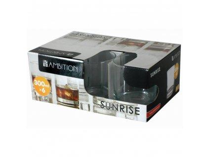 Sada 6 nízkých sklenic Sunrise 300 ml AMBITION