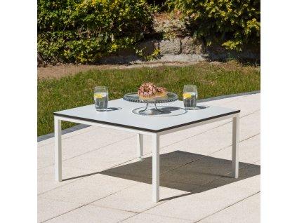 Kávový stolek Agat White 68 x 68 x 36 cm PATIO