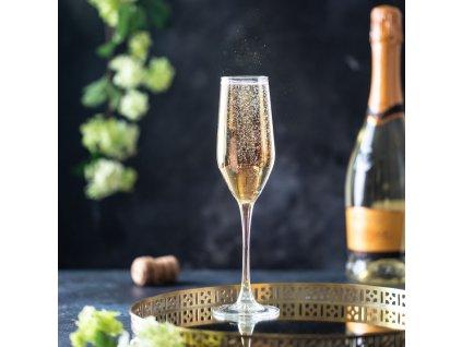 Sada 6 sklenic na šampaňské Celeste Golden Chameleon 160 ml LUMINARC