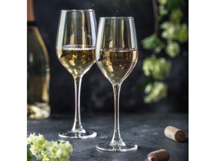 Sada 6 sklenic na víno Celeste Golden Chameleon 270 ml LUMINARC