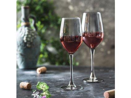 Sada 6 sklenic na víno Celeste Shiny Graphite 270 ml LUMINARC