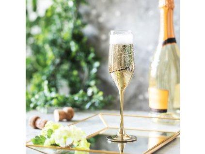 Sada 6 sklenic na šampaňské Celeste Golden Ring 160 ml LUMINARC