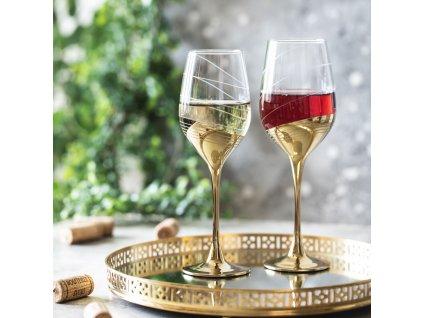 Sada 6 sklenic na víno Celeste Golden Ring 270 ml LUMINARC