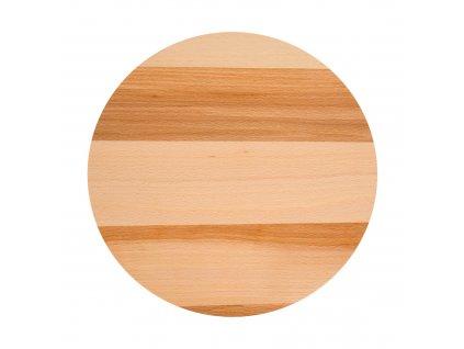 Otočné dřevěné kulaté prkénko Woody 30 cm DOMOTTI