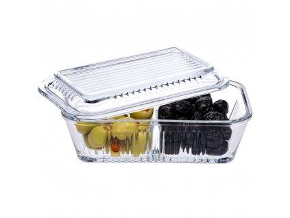 Dvojitá skleněná nádobka na potraviny Frigo Studio 17 x 10,2 cm PATIO
