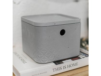 Úložný box s víkem Beton Gray 3 l CURVER