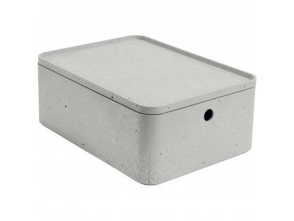 Úložný box s víkem Beton Gray 8 l CURVER