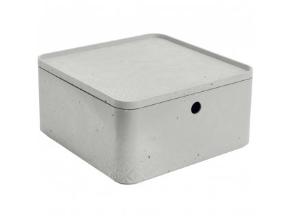 Úložný box s víkem Beton Gray 8,5 l CURVER