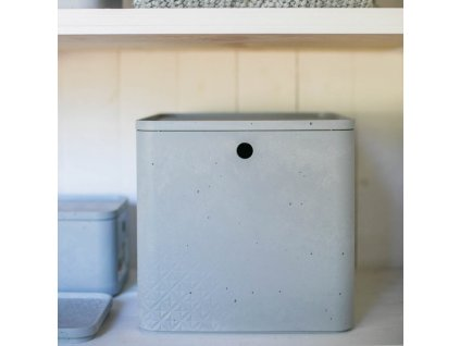 Úložný box s víkem Beton Gray 18 l CURVER