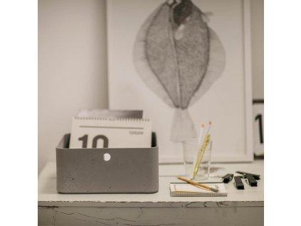 Úložný box Beton Gray 8 l CURVER