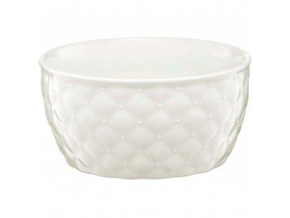 Salátová mísa Glamour Quilted White 13,5 cm AMBITION