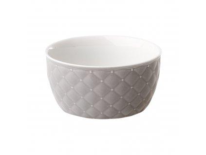 Salátová mísa Glamour Quilted Light Gray 13,5 cm AMBITION