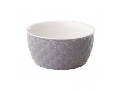 Salátová mísa Glamour Quilted Dark Gray 13,5 cm AMBITION
