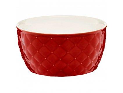 Salátová mísa Glamour Quilted Red 13,5 cm AMBITION