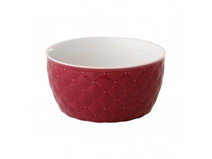 Salátová mísa Glamour Quilted Dark Pink 13,5 cm AMBITION