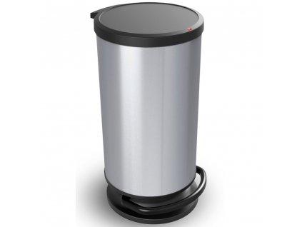 Odpadkový koš Paso Silver s pedálem 30 l ROTHO