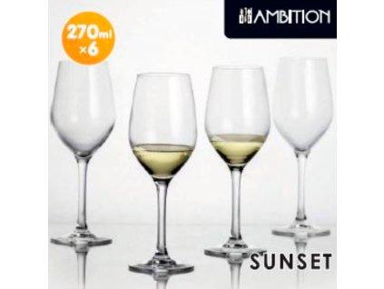 Sada 6 sklenic na víno Sunset 270 ml AMBITION