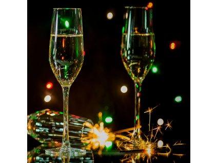 Sada 6 sklenic na šampaňské Sunset 160 ml AMBITION
