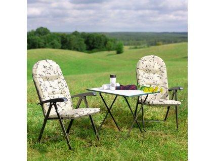 Skládací turistický stůl Sevelit Green / White / Antracit 60 x 80 cm PATIO