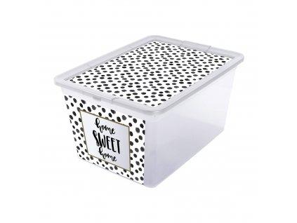 Box s víkem X Box Deco Dots 15 l BRANQ