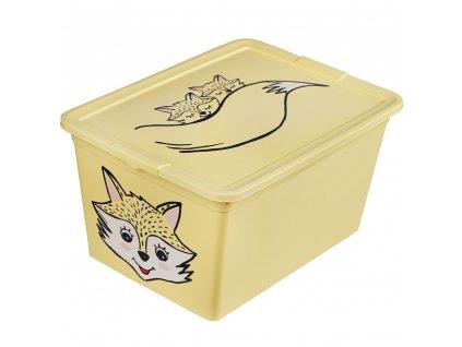 Dětský box s víkem X Box Deco Fox Animal 15 l BRANQ